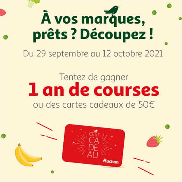 Jeu Auchan : 505 cartes cadeaux de 50€ à 4'000€ à gagner