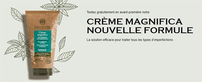 Testez gratuitement la nouvelle formule de la crème Magnifica de Sanoflore
