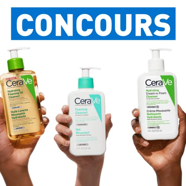 Jeu CeraVe : soins nettoyants visage à gagner