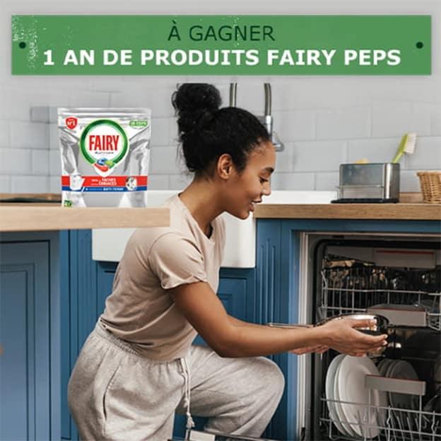 Jeu Envie de Plus : 200 lots d'un an de capsules Fairy Peps