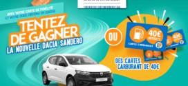 Je gagne ma voiture Jeu Leclerc à code : Dacia Sandero à gagner