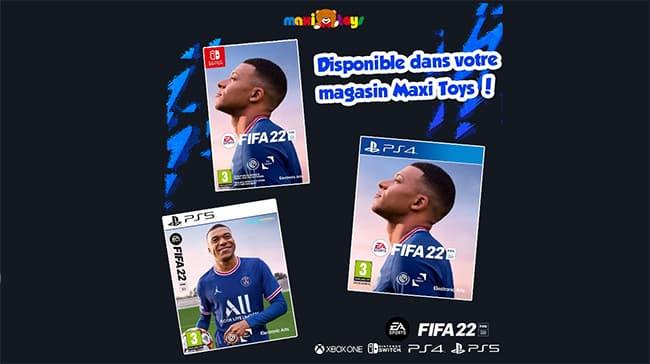 Gagnez le jeu FIFA 22 pour la console de votre choix avec Maxi Toys