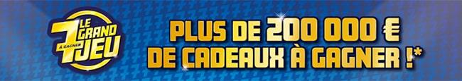 Grand jeu 7 à gagner Ouest France