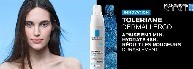 Remportez une crème visage et un soin contour des yeux Toleriane Dermallergo de La Roche-Posay