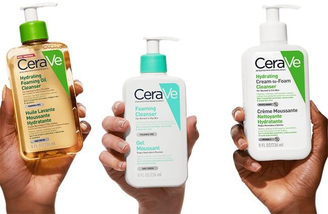 gagner un gel moussant, une crème ou une huile lavantes moussante hydratante CeraVe